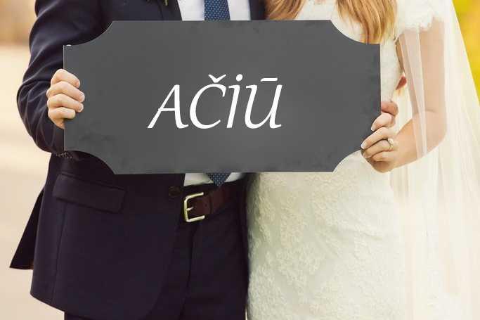 Padėka vestuvėse
