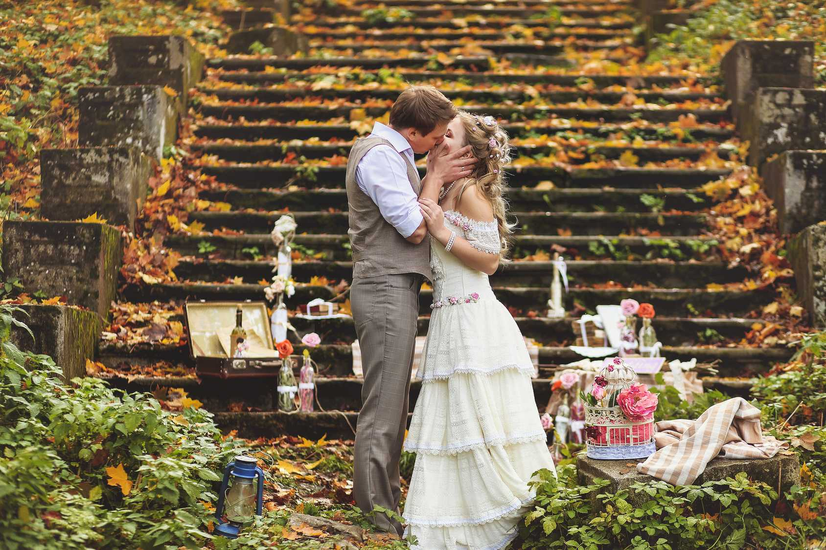 Vestuvės rudenį. Dekoras