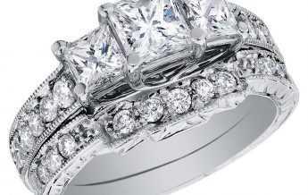 Vestuvinis, platininis žiedas su deimantais 5 karatai